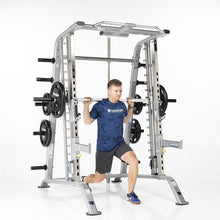 Load image into Gallery viewer, TuffStuff Evolution Smith Machine / Half Cage Combo (CSM-600) Alternating Lunge