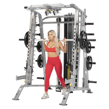 Load image into Gallery viewer, TuffStuff Fitness Evolution Smith Machine / Half Cage Ensemble (CSM-725WS)