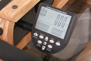 WaterRower Natural Rowing Machine in Ash Wood with S4 Monitor - Shop Fitness Gallery