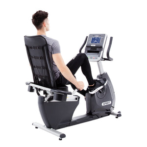 Spirit Fitness XBR55 Recumbent Bike rider