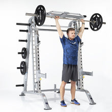 Load image into Gallery viewer, TuffStuff Evolution Smith Machine / Half Cage Combo (CSM-600) Overhead Press