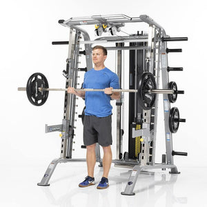 TuffStuff Smith Machine / Half Cage Ensemble (CSM-725WS) - Bicep Curls