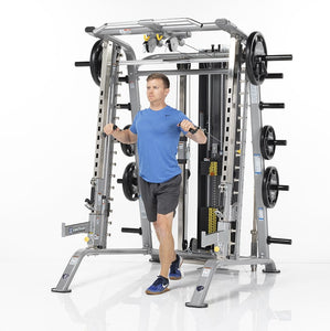TuffStuff Fitness Evolution Smith Machine / Half Cage Ensemble (CSM-725WS) - Chest Press