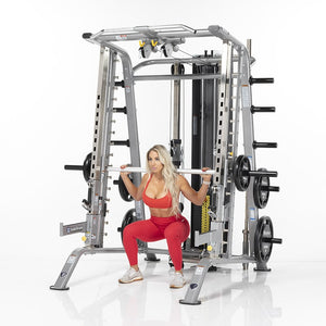 TuffStuff Fitness Evolution Smith Machine / Half Cage Ensemble (CSM-725WS) - Smith Squat
