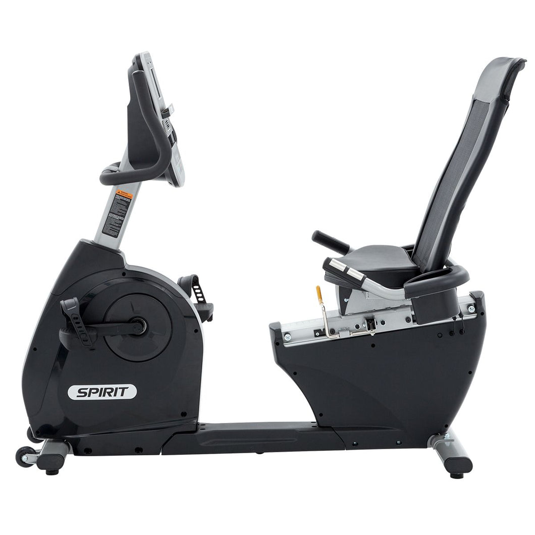 Spirit Fitness XBR25 Recumbent Bike side