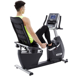 Spirit Fitness XBR25 Recumbent Bike rear-side