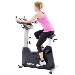 Spirit Fitness XBU55 Upright Bike rider