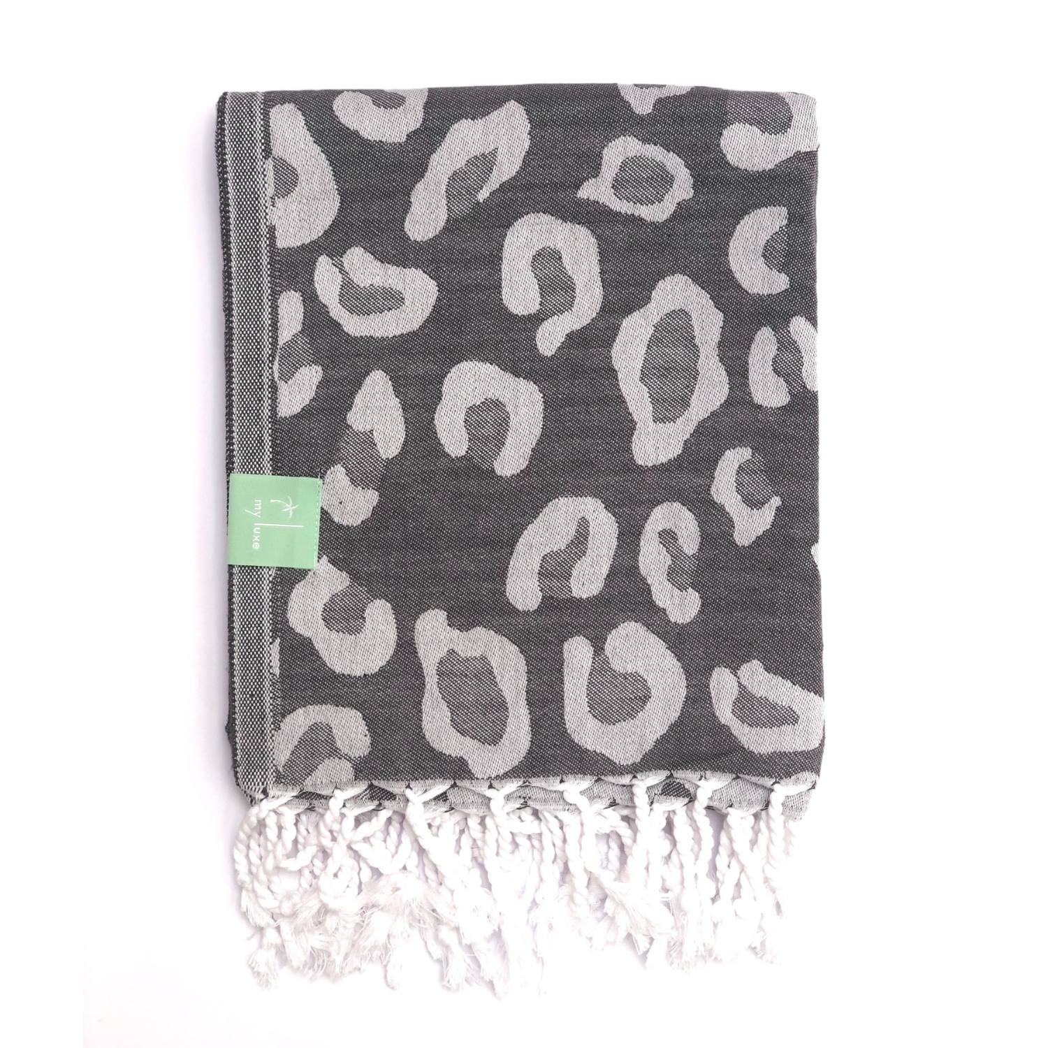 Grey Leopard Hammam Towel