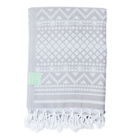 Grey Ikat Hammam Towel
