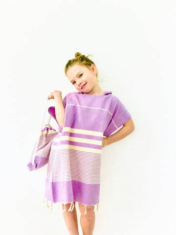 Lilac Beach Poncho Set