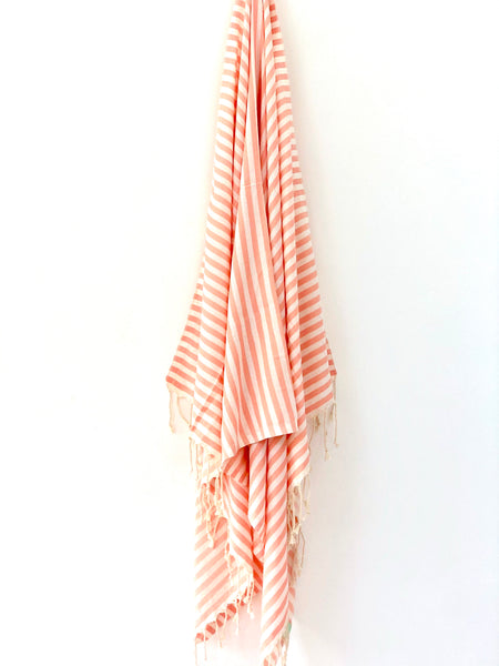 Marshmallow Stripe Hammam Towel