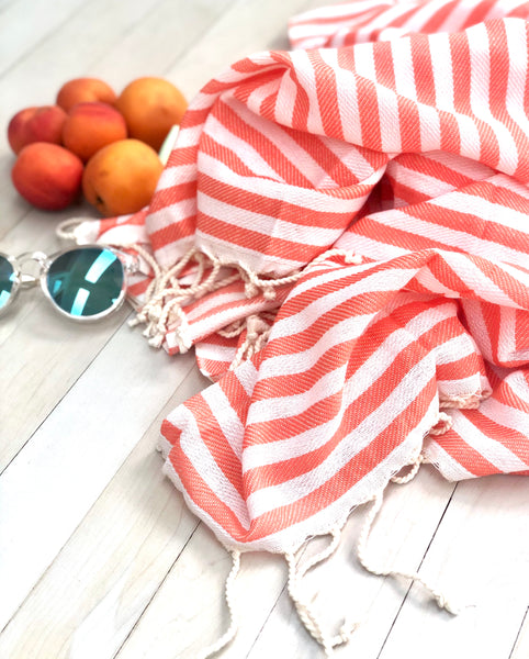 Coral Candy Hammam Towel