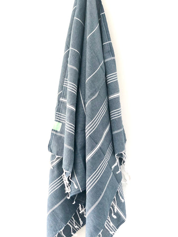 Navy Hammam Beach Towel