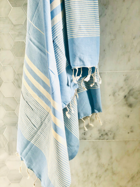 Light blue towel