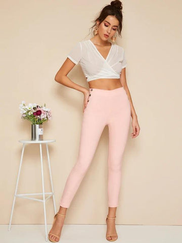 Button Side Jeggings