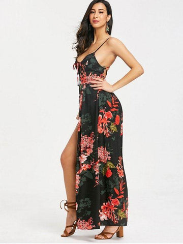 Cami Floral Criss Cross Maxi Dress