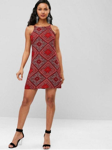 Cami Paisley Print Boho Dress