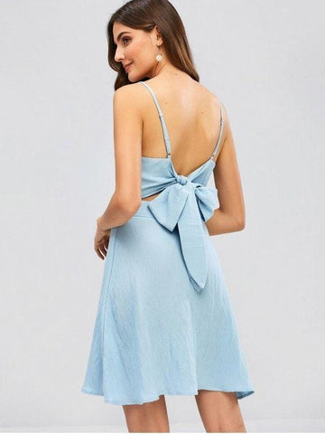 Cami Twist Front Tied Back Dress