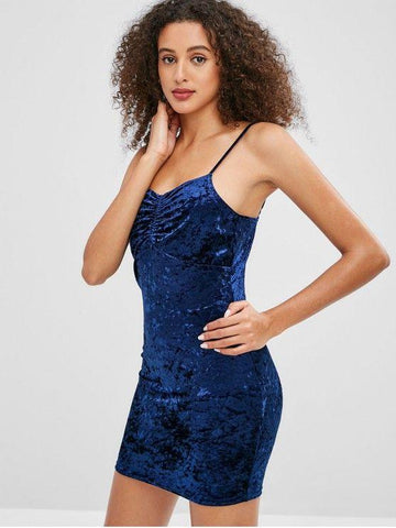 Cami Velvet Short Dress