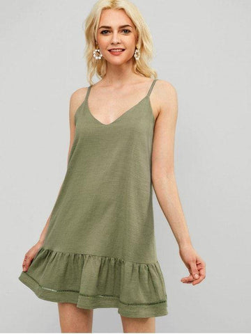 Casual Ruffles Cami Dress