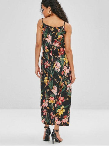 Floral Belted Maxi Dress