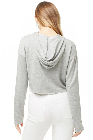 Hooded 1981 Graphic Raw-Cut Top
