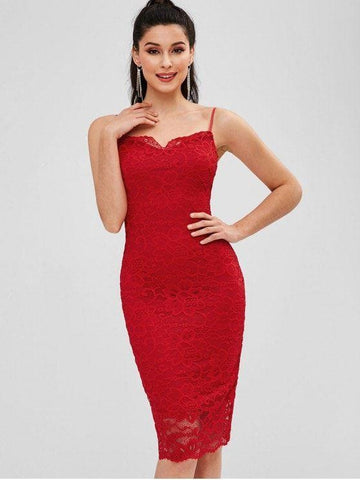 Lace Cami Bodycon Party Dress