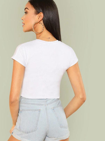 Solid Crop Tee