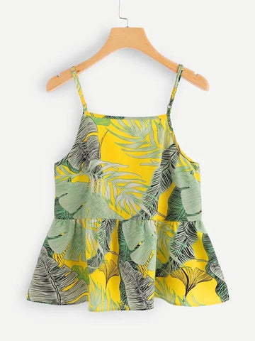 Tropical Print Cami Top