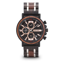 Wooden Watch Top Brand Luxury Stylish Chronograph Military Watches