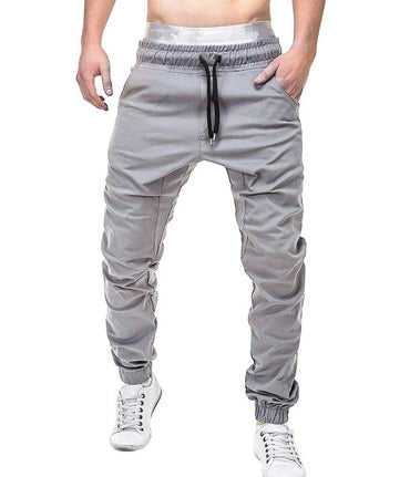 casual pants elastic jogging pants