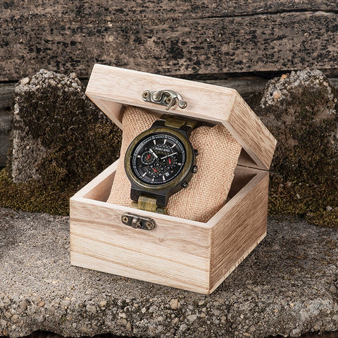 Green Sandalwood Wooden Watch