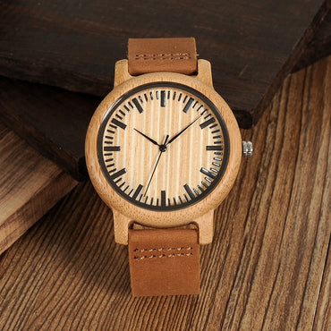 Wooden Watch Quartz Wristwatches