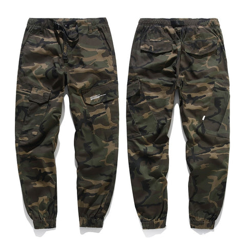 Mens Military Black/Camouflage Pants