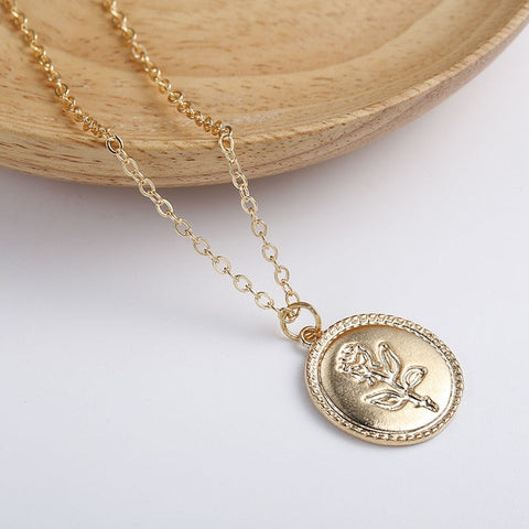 Gold Color Multi-layer Chain Pendant Necklaces
