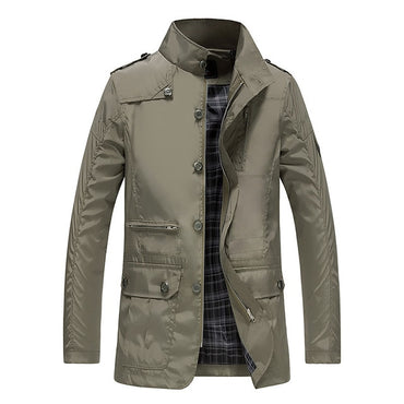 Slim Fit  zippers warm cotton quilted Jackets & Coats