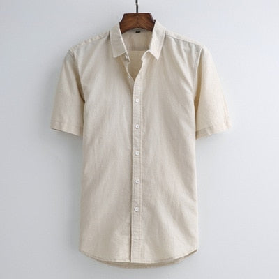 Men Summer Fashion Brand Japan Style Vintage Simple Solid Color Slim F Topfashionova