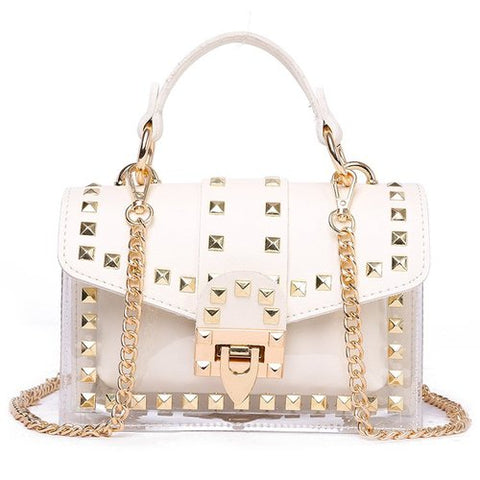 chains rivet handbags