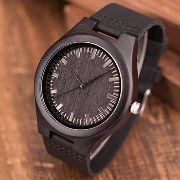 Design Brand Luxury Black Wooden Watches