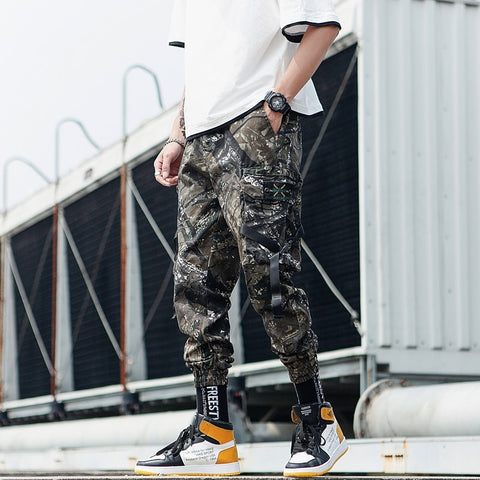 Cotton Streetwear Hip Hop Black Mens Joggers Pants