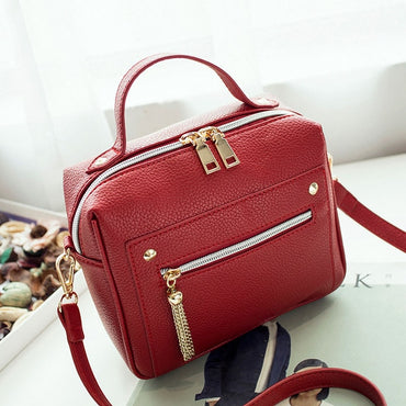 Pu Leather Solid Handbags