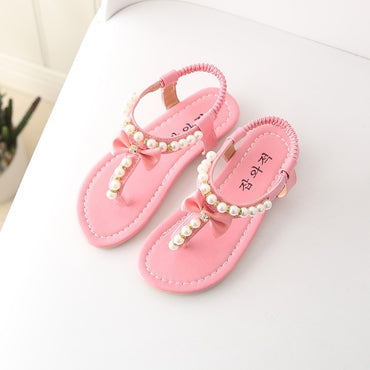 Rubber Leather Princess Beach Pearl Sandals
