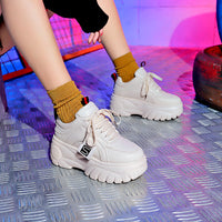 Causal Pu Leather Platform Shoes & Sneakers