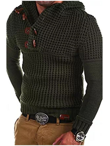 Autumn Winter Men Knit Sweaters Brand New Casual Solid Slim Hooded Sweaters