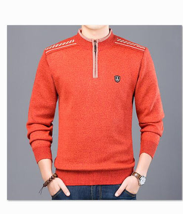 Zipper Sweater Cashmere Wool Sweaters