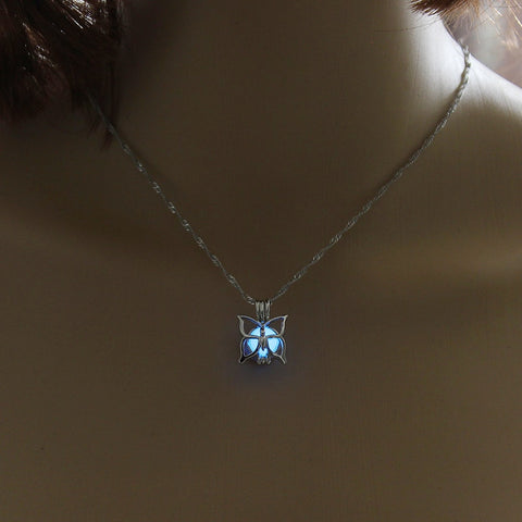 Charm Glowing Butterfly Pendant Necklace