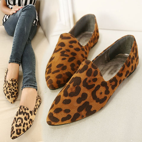 pointed toe slip on shallow comfortable casual Flat Shoes