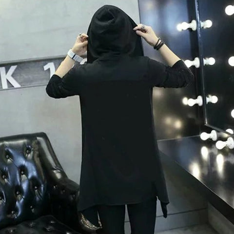 Black Dress Hip Hop Cloak Hoodie