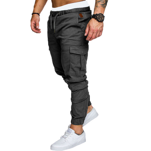 Skinny Fit Straight Leg  Casual Pencil Jogger Cargo Pants
