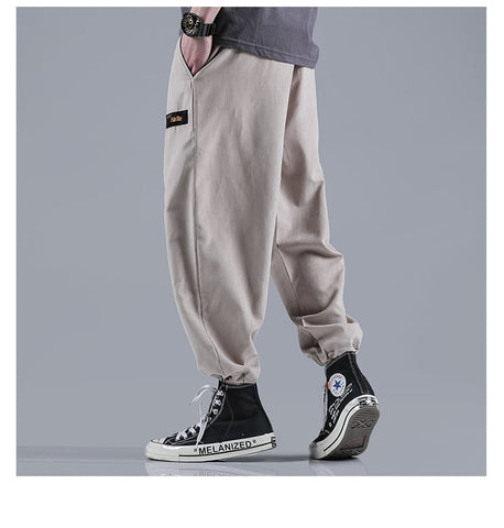 new trousers solid color loose sports casual pants